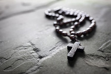 Rosary Beads And Crucifix Cros...