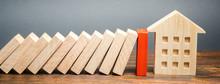 Wooden Blocks Of Dominoes Fall...