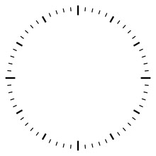 Blank Clock Dial Face Vector Illustration