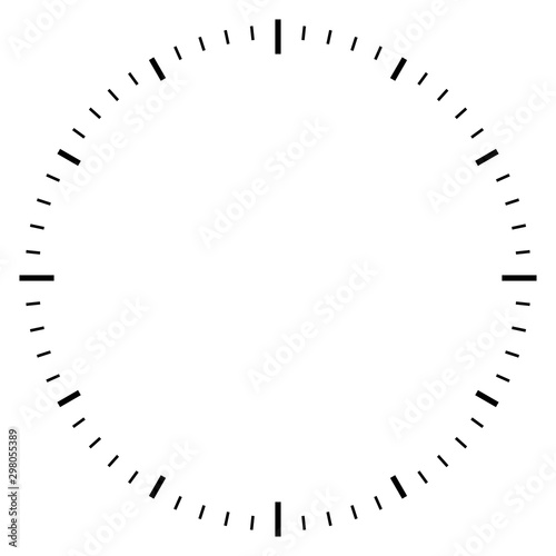 Blank clock dial face vector illustration Canvas Print