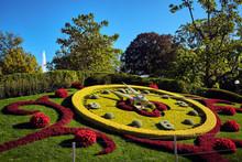 Flower Clock In Geneva, Switze...