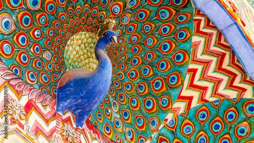 Naklejki ptaki  jaipur-city-palace-in-jaipur-city-rajasthan-india