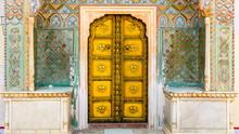 Peacock Gate, Jaipur City Palace In Jaipur City, Rajasthan, India