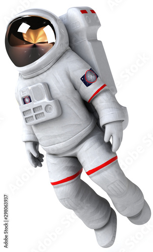 Fotografía Fun astronaut - 3D Illustration