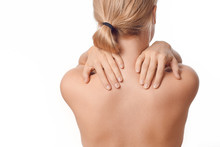 Woman With Upper Back And Neck...
