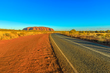 Road Leading To Uluru Ayers Ro...