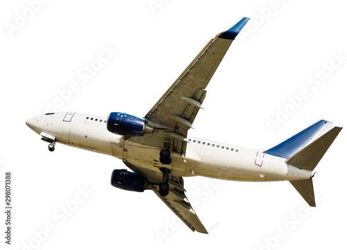 Passenger airplane isolated