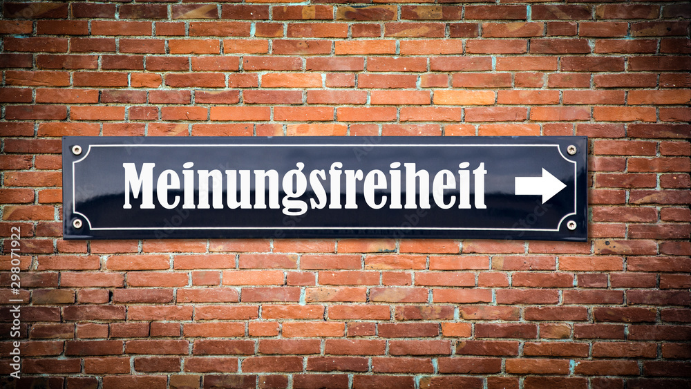 Fototapety, obrazy: Schild 404 - Meinungsfreiheit