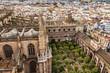 Vista desde la Giralda, Catedral, Patio de los Naranjos, Sevilla, España