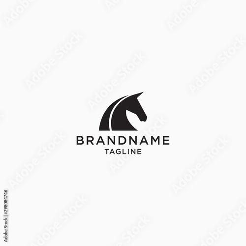 Pinturas sobre lienzo  Horse Logo Icon Design Template Vector Illustration