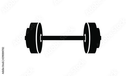 Photo dumbell, barbell icon vector