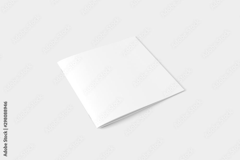 Fototapety, obrazy: Square Magazine Brochure Blank White Mockup