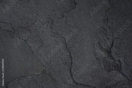 Poster Cailloux Dark grey stone texture