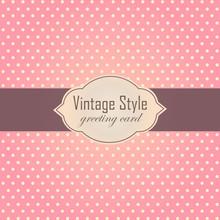 Pink Vintage Style Label Frame...