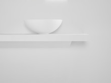 Ceramic Bowl Placed On Simple ...