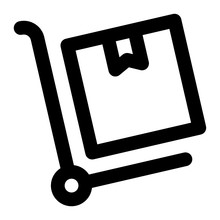 Trolly Box Line Icon Vector