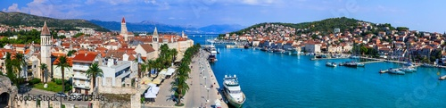 Travel and landmarks of Croatia - Beautiful Trogir in Dalmatia, popular tourist attraction