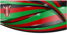 Kenya Banner Background Flag