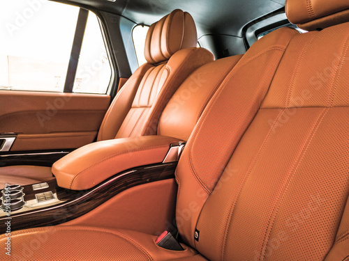 Fotomural  an exotic leather rare seats of a luxury car