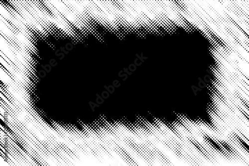 An abstract black and white grunge border background.