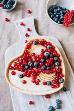 Heart Shaped Fruit Tart