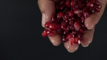 Pomegranate Seed Pouring Slow ...