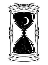 Hand Drawn Line Art Hourglass ...