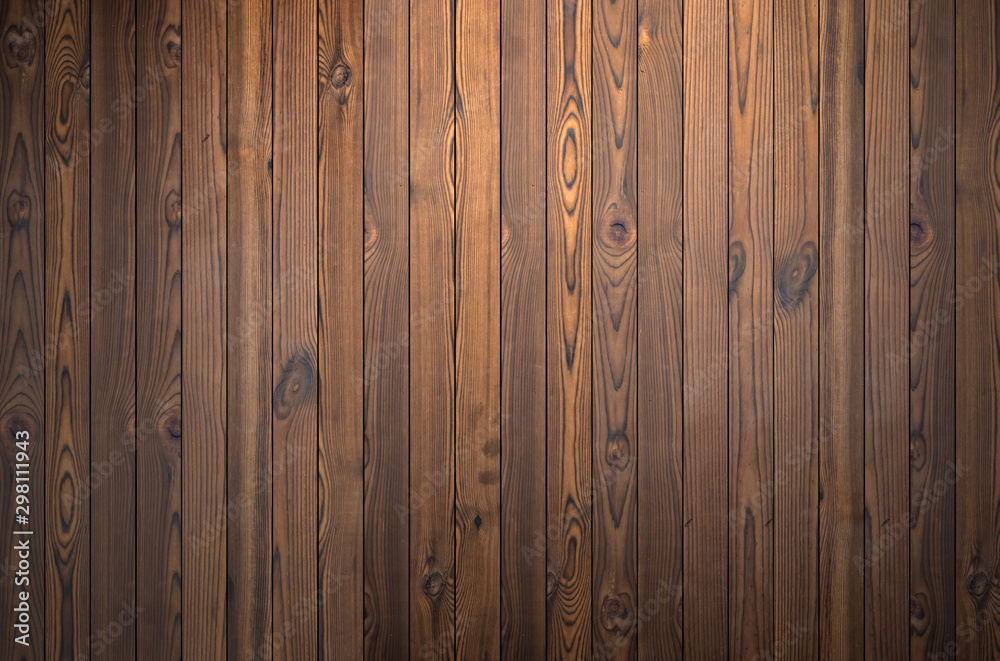 Fototapety, obrazy: Background of brown wood texture