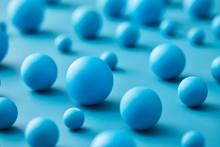 Layout Of Various Blue Balls