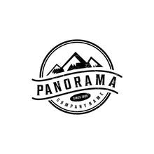 Vintage Mountain Logo Graphic ...