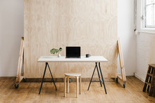 Modern Workspace With Plywood ...