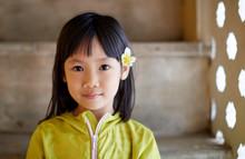 Cute Asian Little Girl Wearing...