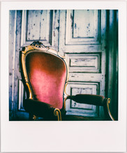 Beautiful Vintage Polaroid Of Old Wooden Chair