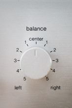 Close Up Of A Balance Button O...