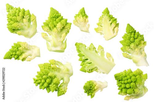 Photo  Romanesco broccoli isolated on white background
