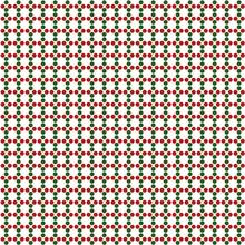 Pattern Dots Verde E Rosso Isolato Su Sfondo Bianco