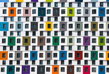 Colorful Facade Of The New Bui...