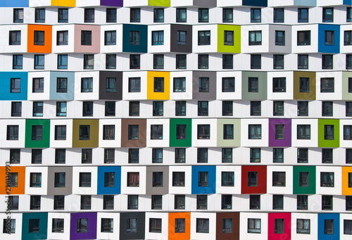 Canvas Print Colorful facade of the new building