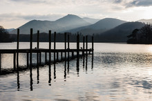 Jetty In Lake District Cumbria