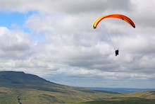 Tandem Paraglider In The Breco...