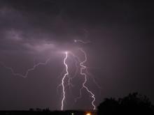 A Multiple Lightning Bolt And ...