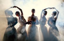 Ballerinas Dancing Indoors