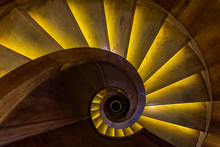 Overhead View Of Spiral Stairc...