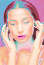 Close Up Creative Futuristic Beauty Shot
