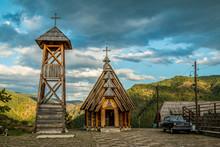 St. Sava Church Against Cloudy...