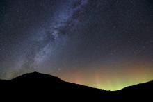 Milky Way And Aurora