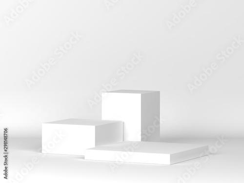 Fotografie, Obraz  Three podiums standing