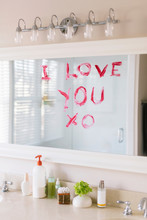 I Love You Written On Mirror In Bathroom