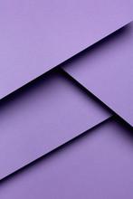 Purple Geometric Shapes. Material Design Concept