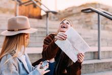 Friends Enjoying During Tourism Escape